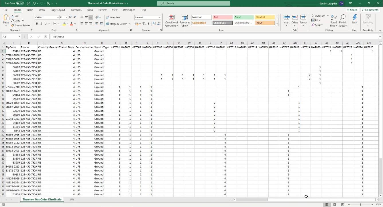 Screenshot 1 - CSV File