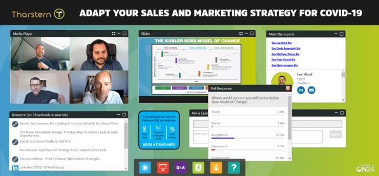 Screenshot of sales marketing webinar