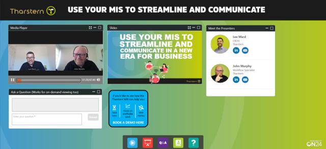 Screenshot of streamline communicate webinar