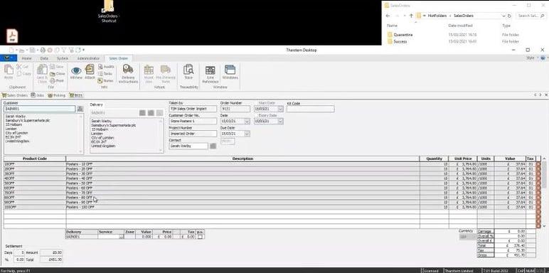 CSV & hot folder