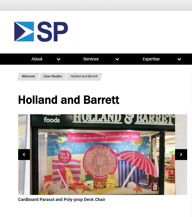 SP group - holland & Barrett - print
