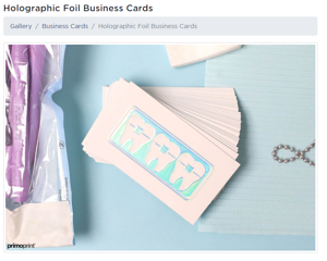 business card-holographic-print