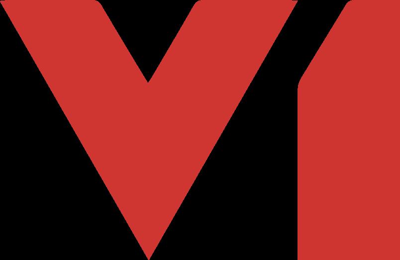 V1 logo red