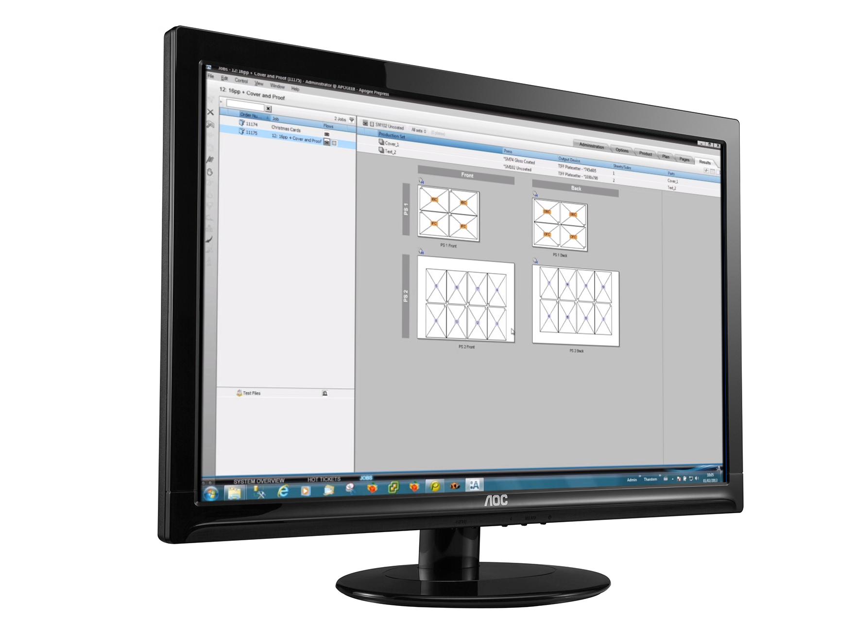 MIS integration with Agfa Apogee screenshot on computer screen
