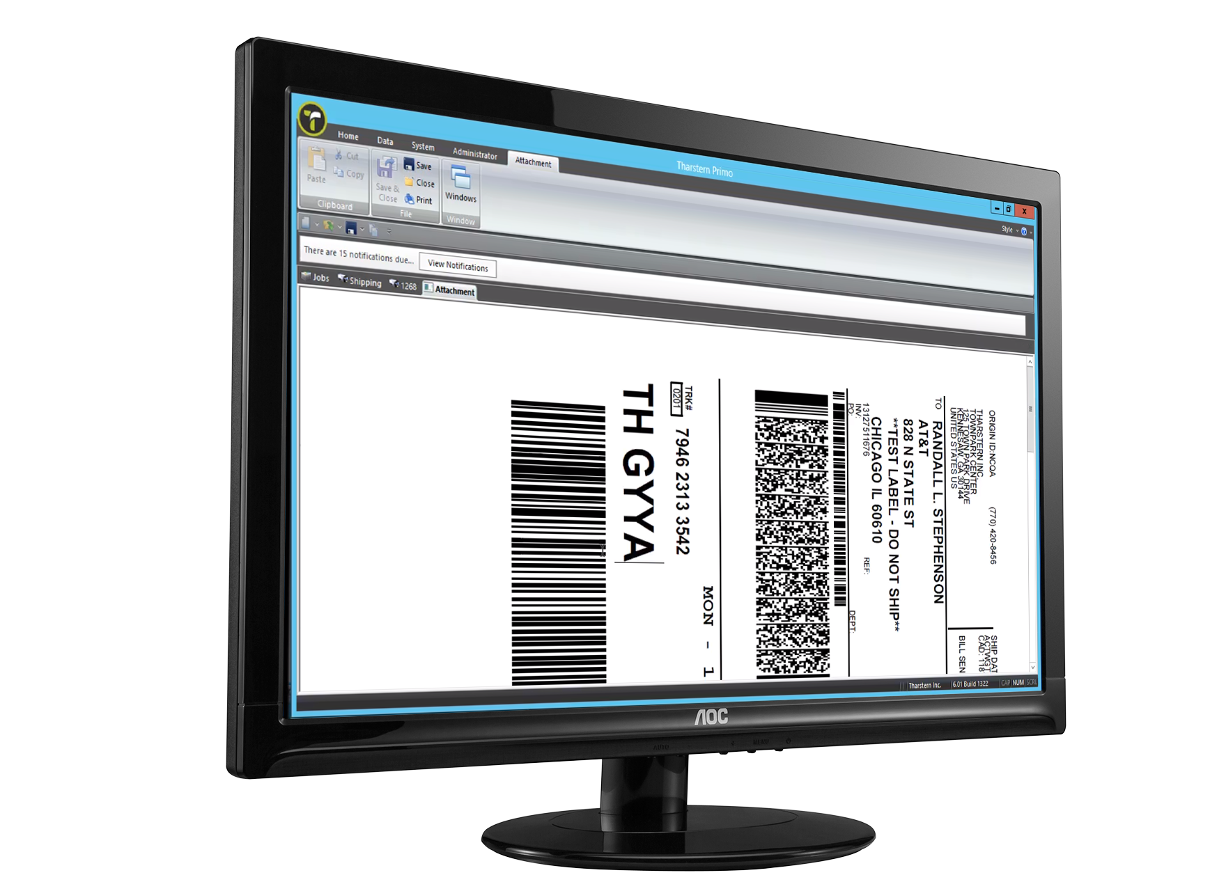 MIS integration FedEx screenshot on computer screen