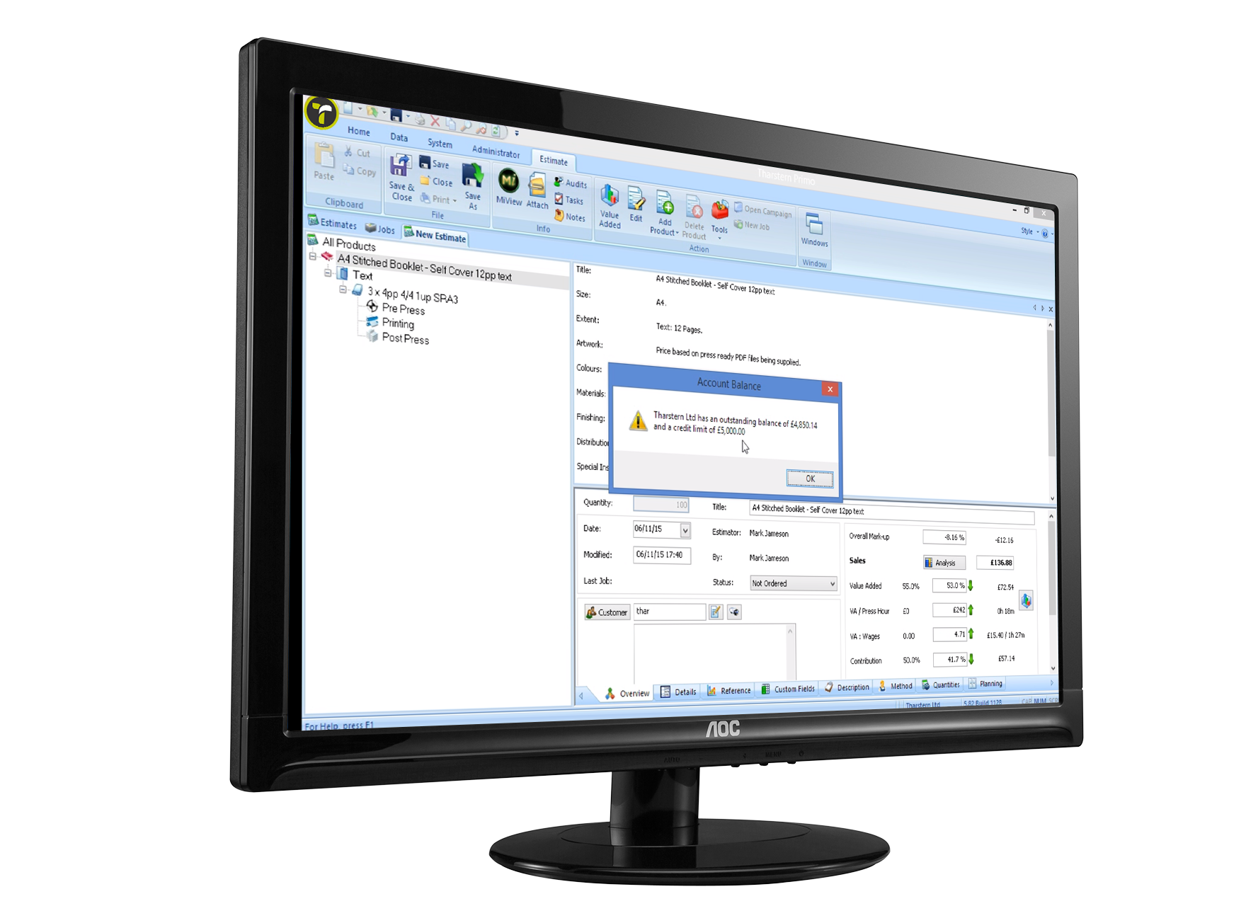 MIS integration Xero screenshot on computer screen