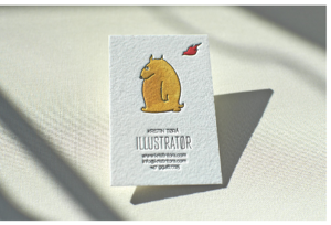 business card-cotton-print