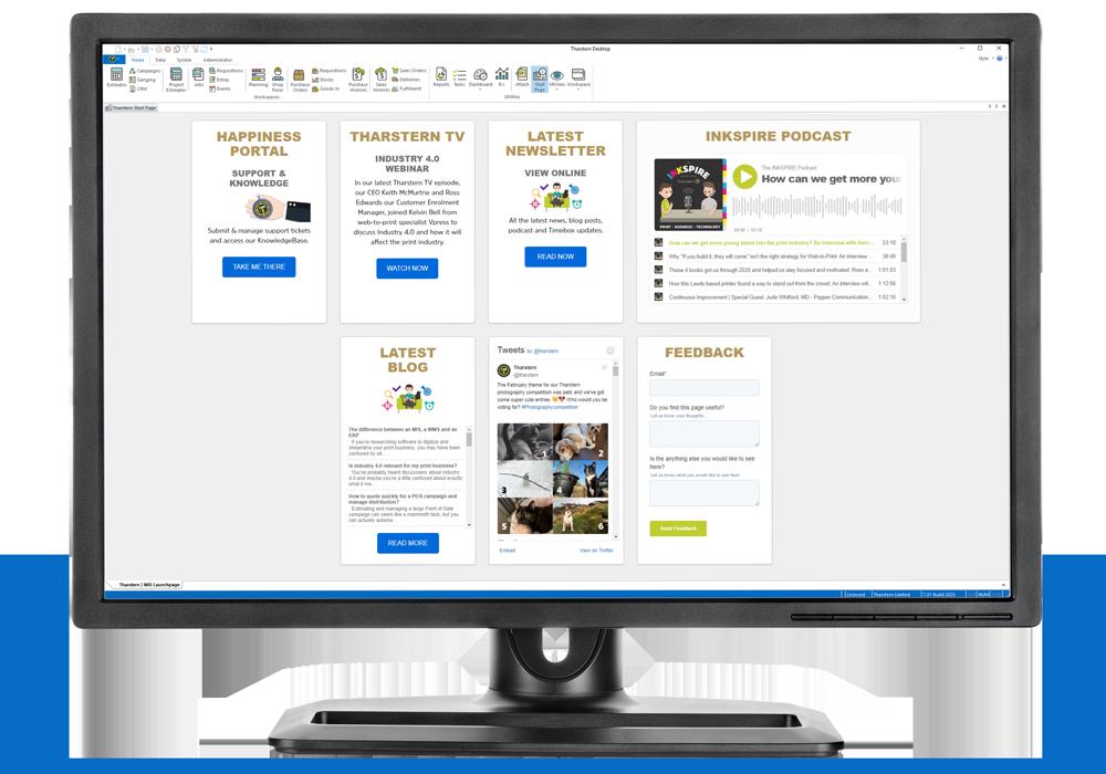 Tharstern MIS V7 Start Page